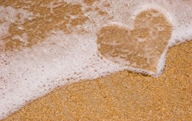 Love Heart Beach Sand Water