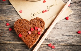 Love Letter And Chocolate Heart