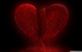 Love Red Broken Heart