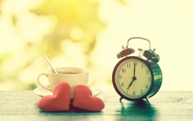 Love Red Heart Clock