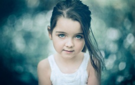 Lovely Girl Child Look Bokeh