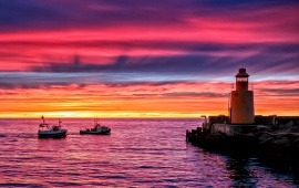 Made Lighthouse Sunset