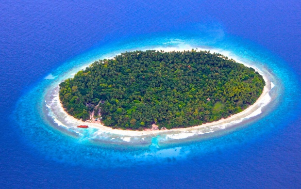 Maldives Island Reef Ocean (click to view)