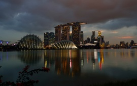Marina Bay Sands Night Singapore