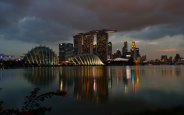 Marina Bay Sands Night Singapore (click to view)