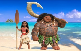 Maui And Princess Moana In Moana 2016