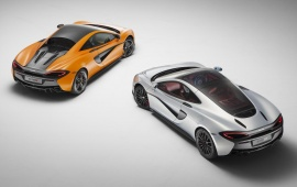 McLaren 570GT White And Orange Car 2017