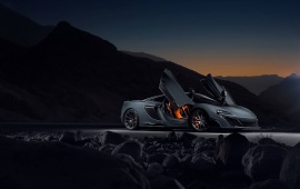McLaren 675LT Supercar Dark Mountains