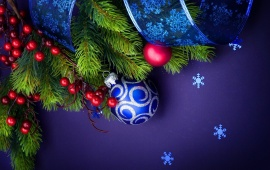 Merry Christmas Holiday Blue Background