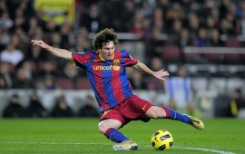 Messi Kicks A Ball