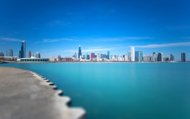 Michigan Chicago City Blue Lake (click to view)