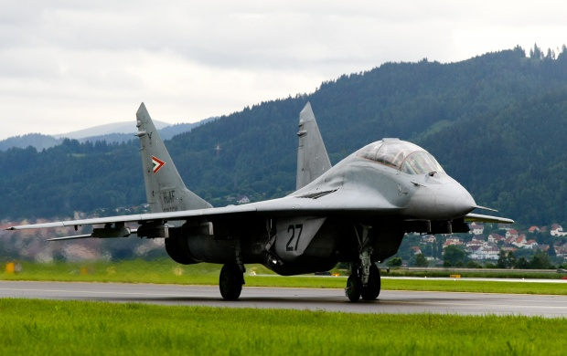 Mig 29 Fighter Jet On The Runway (click to view)