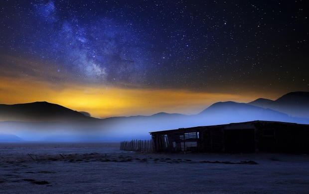 Milky Way Sky At Night (click to view)