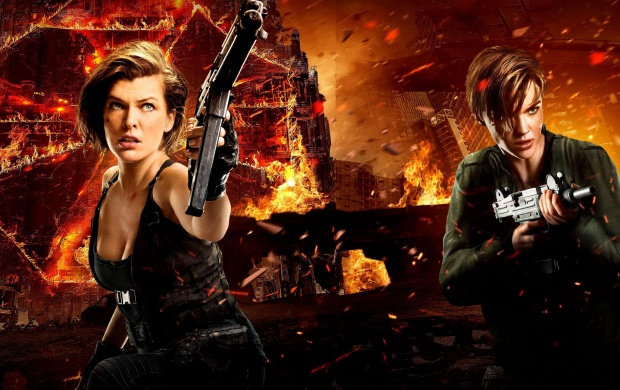 Ruby Rose Resident Evil The Final Chapter Wallpaper 11863: Milla Jovovich And Ruby Rose Resident Evil The Final