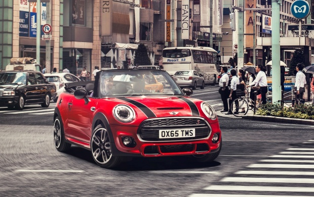 mini john cooper works cabrio 2016 wallpapers. Black Bedroom Furniture Sets. Home Design Ideas