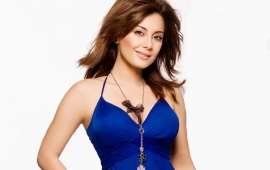 Minisha Lamba In blue Dress