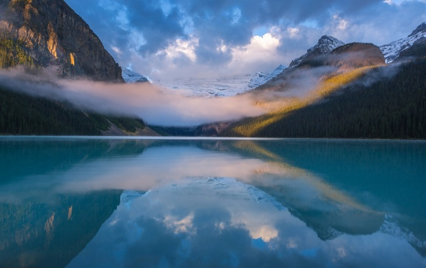 Mist Wave On Mountain Lake (click to view)