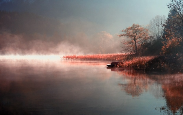 Misty Autumn River (click to view)