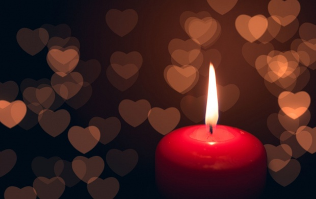 Mood Candle Fire Flame Hearts (click to view)