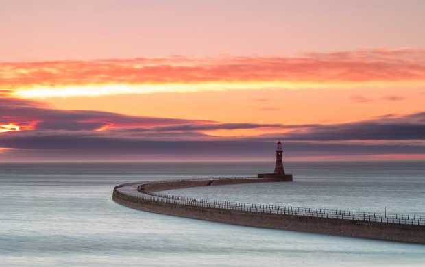 Morning Lighthouse And Sky (click to view)