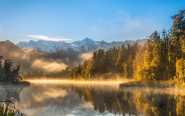 Morning Mist On A Lake