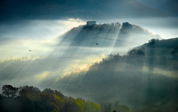 Morning Sunbeams On Hills (click to view)