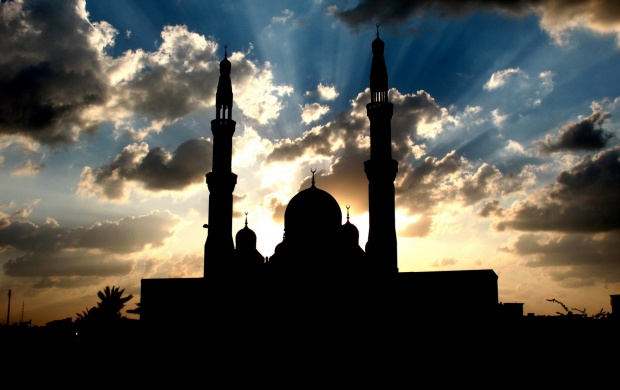Mosque Silhouette (click to view)