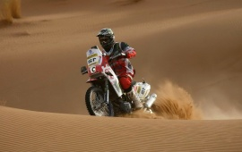 Motorcycle Racing On The Sand