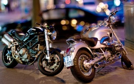 Motorcycles In City