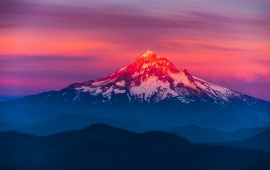 Mount Hood Mountain Sunset
