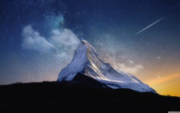 Mountain and Sky Full of Stars (click to view)