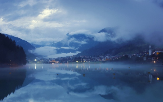 Mountain Lake at Night (click to view)