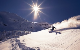 Mountain Skiing Sports