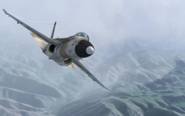 Mountains Fighter Jet