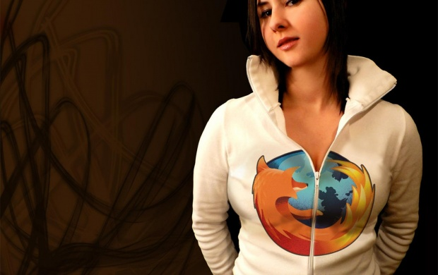 Mozilla Firefox Logo Girl (click to view)