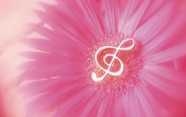 Music Notes In Flower