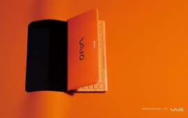 My Vaio Orange Background