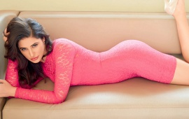 Nargis Fakhri In Pink Dress