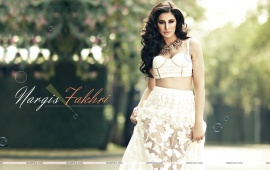 Nargis Fakhri In White Dress