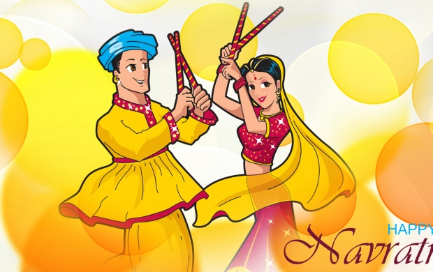 Navratri Dandiya Couple (click to view)