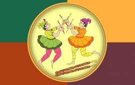 Navratri Garba Cartoon