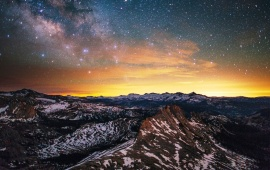 Nebulae Mountain Sunset