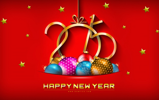 New Year 2015 With Christmas Balls (click to view)