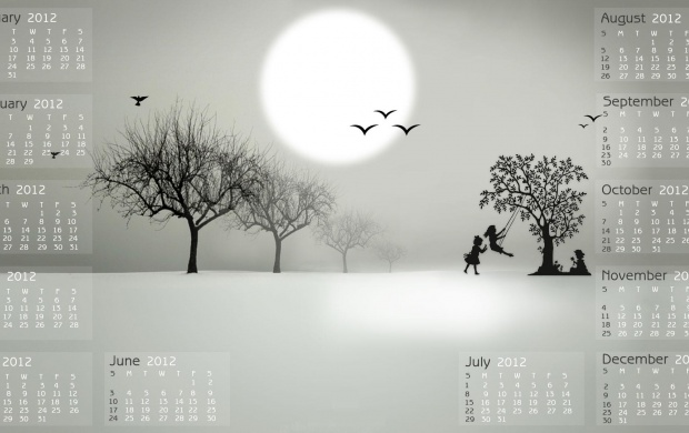 New Year Calendar 2012 Black And White (click to view)