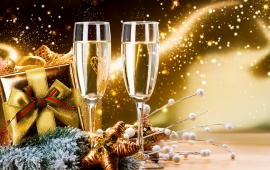 New Year Celebration Champagne2015