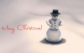 New Year Winter Snowman
