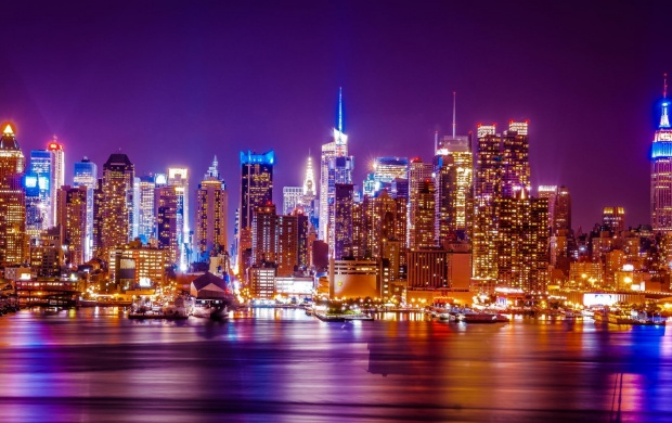 New York City Hudson River Lights (click to view)