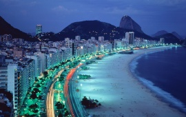 Night City Beach in Brazil