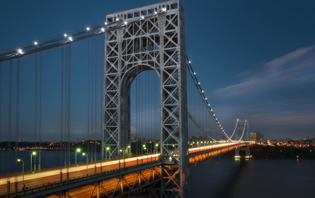 Night George Washington Bridge New York (click to view)