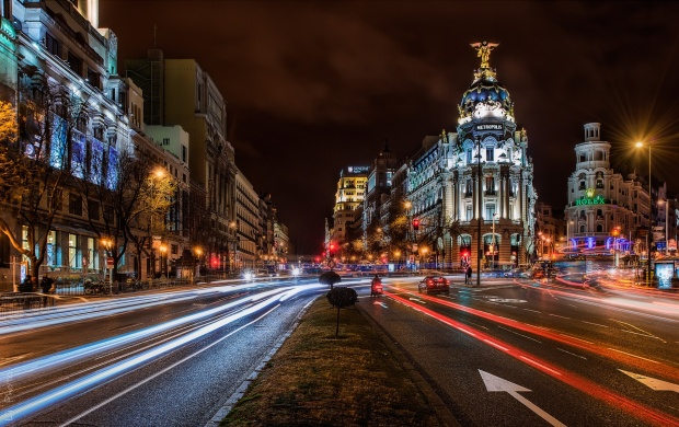 Night Madrid City Spain (click to view)